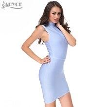 2018 new fashion Spring Dress women Runway Bandage Dress ice blue apricot sleeveless Bodycon celebrity evening Party Dresses