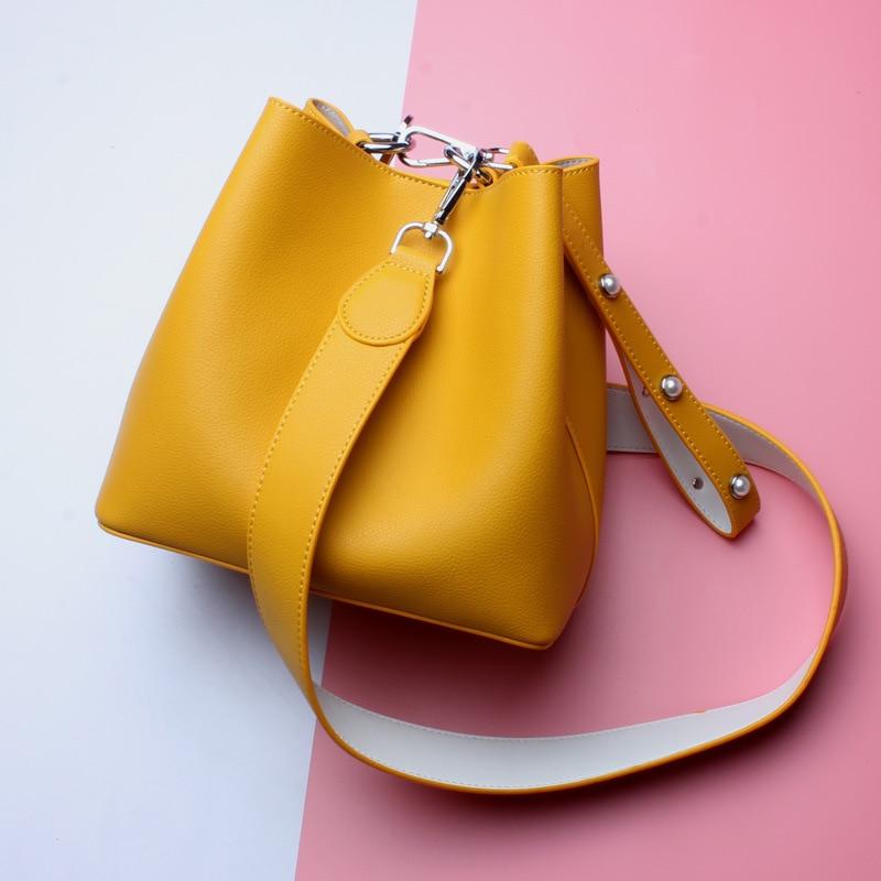Nuevo 2018 mujeres bolso de cuero Shell bolsas bolso bolsos grandes mensajero Casual moda 100% cuero genuino en promover