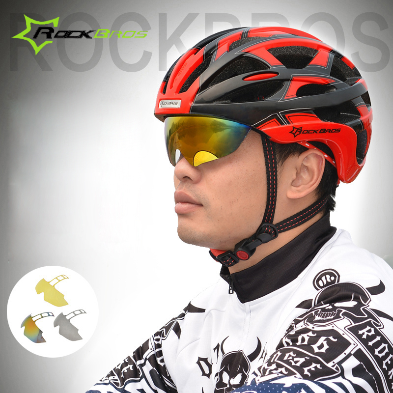 Rockbros Bicycle Helmet With 3 Lens Outdoor Sports Bike Riding