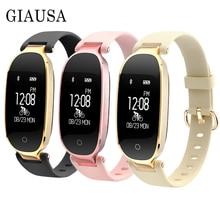 купить S3 Fashion Smart Band Girl Women IP67 Smart Bracelet Heart Rate Monitor Wrist Smartband Lady Female Fitness Tracker Wristband по цене 1328.68 рублей