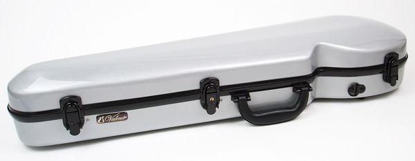 Finest Quality Strong Fiberglass Violin Case SILVER 4/4 NEW! their finest