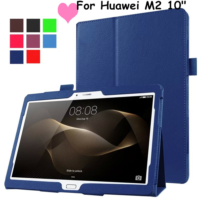 Litchi Leather Case Flip Cover For Huawei MediaPad M2 10.1 M2-A01W M2-A01L M2 10.0 10.1 Tablet Case Smart Cover Protective shell magnet flip cover for huawei mediapad m2 10 1 m2 a01w a01w tablet case pu leather case with hand holder and card slot