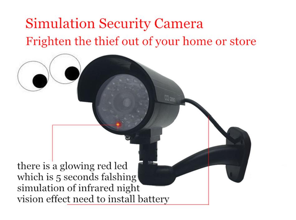поддельные пустышки камера пуля водонепроницаемый крытый безопасности видеонаблюдения камеры скрытого видеонаблюдения мигающий красный светодиод бесплатная доставка