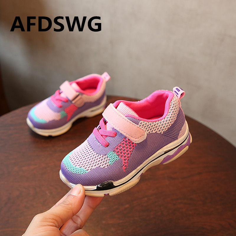 AFDSWG mesh hollow breathable blue kids running shoes black shoes girls children purple sport shoes kids children s shoes
