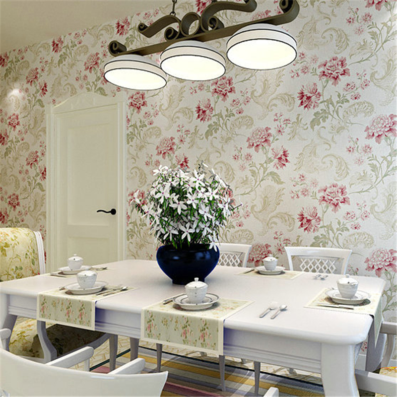 beibehang Environmental pure paper French pastoral warm big flower wallpaper living room bedroom bedside background wallpaper beibehang wall paper french pune cozy flower garden bedroom living room tv background wallpaper shop for environmental non wove