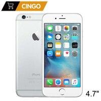 Разблокированный Apple iPhone 6 IOS двухъядерный 1,4 ГГц 1 Гб ОЗУ 16/64/128 Гб ПЗУ 4,7 дюймов 8,0 МП камера 3g WCDMA 4G LTE Подержанный мобильный телефон