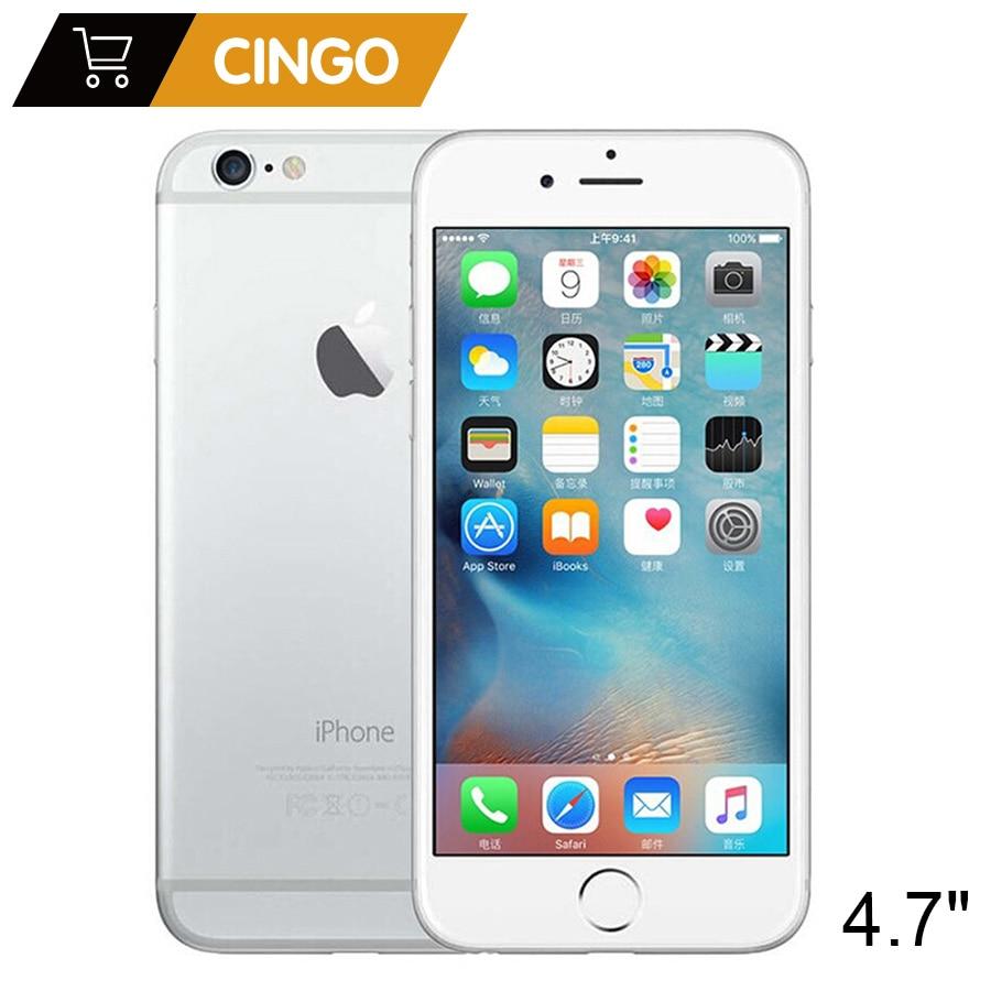 Desbloqueado Apple iPhone IOS Dual Core 1.4GHz 1 6 GB RAM 16/64/128GB ROM 4.7 polegada de 8.0 MP Câmera 3G 4G LTE WCDMA telefone Celular Usado