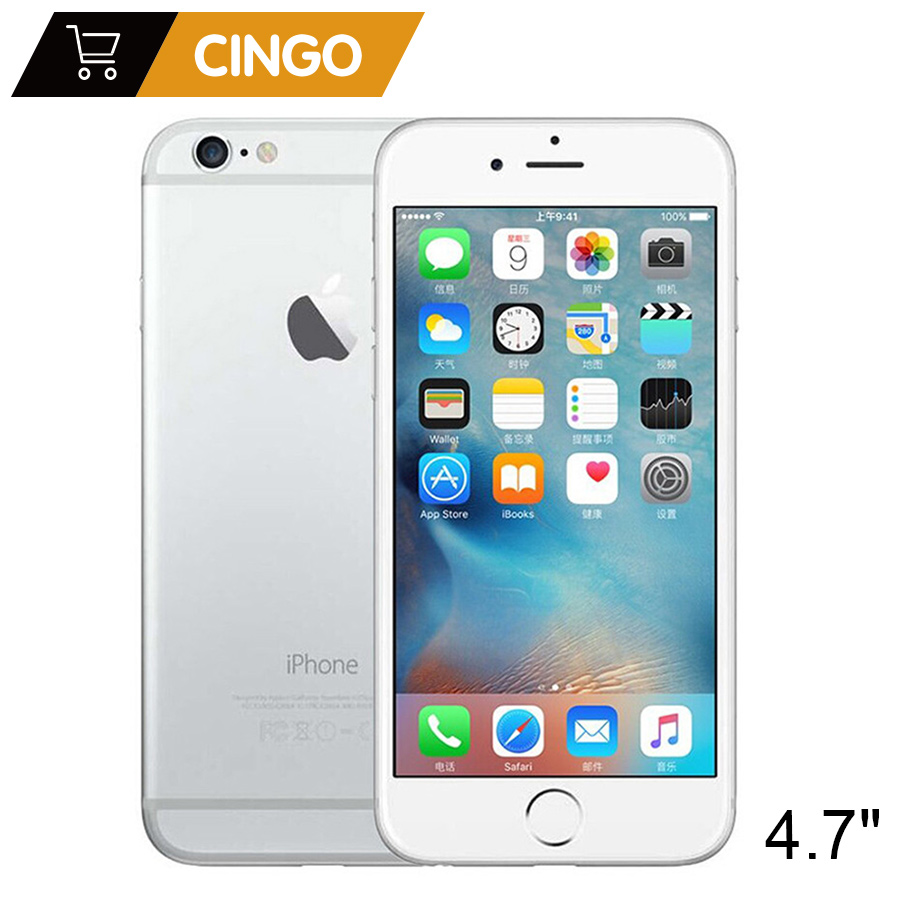 Unlocked Apple iPhone 6 IOS Dual Core 1.4GHz 1GB RAM 16/64/128GB ROM 4.7 inch 8.0 MP Camera 3G WCDMA 4G LTE Used Mobile phone