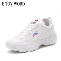 E TOY WORD Street Shooting Women Sneakers Korean Version Ulzzang Harajuku White Casual Shoes Woman Breathable