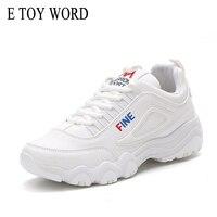 E TOY WORD Street Shooting Women Sneakers Korean Version Ulzzang Harajuku White Casual Shoes Woman Breathable