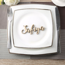 Custom party decoration wedding Place Cards Personalized wood Names Place name settings Guest name tags Wedding table decoration(China)