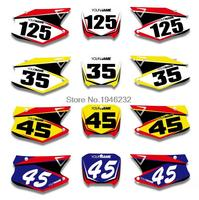 Custom Number Plate Backgrounds Graphics Sticker Decals For HONDA CR125 CR250 2000 2001