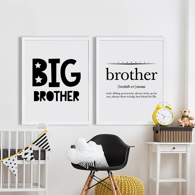 Big Brother Quote Print Boyu0027s Room Wall Art Decor Canvas Poster Brother Definition Canvas Painting  sc 1 st  AliExpress.com & Big Brother Quote Print Boyu0027s Room Wall Art Decor Canvas Poster ...