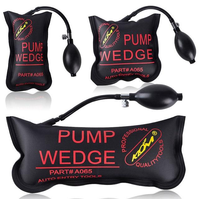 3PCS PUMP WEDGE Airbag New for Universal Air Wedge LOCKSMITH TOOLS Lock Pick Set.Door Lock Opener