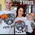 Summer Family Bear Clothes Matching Outfit Casual T-shirt Papa Mama Kids Bear Tee Top