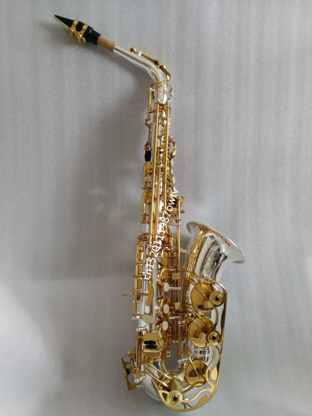 Alto Saxophone France Henri profession Selmer High-Pitch E Sax Super Action 54 Series II Silver Gold key Plating Surface alto saxophone selmer 54 brass silver gold key e flat musical instruments saxophone with cleaning brush cloth gloves cork strap