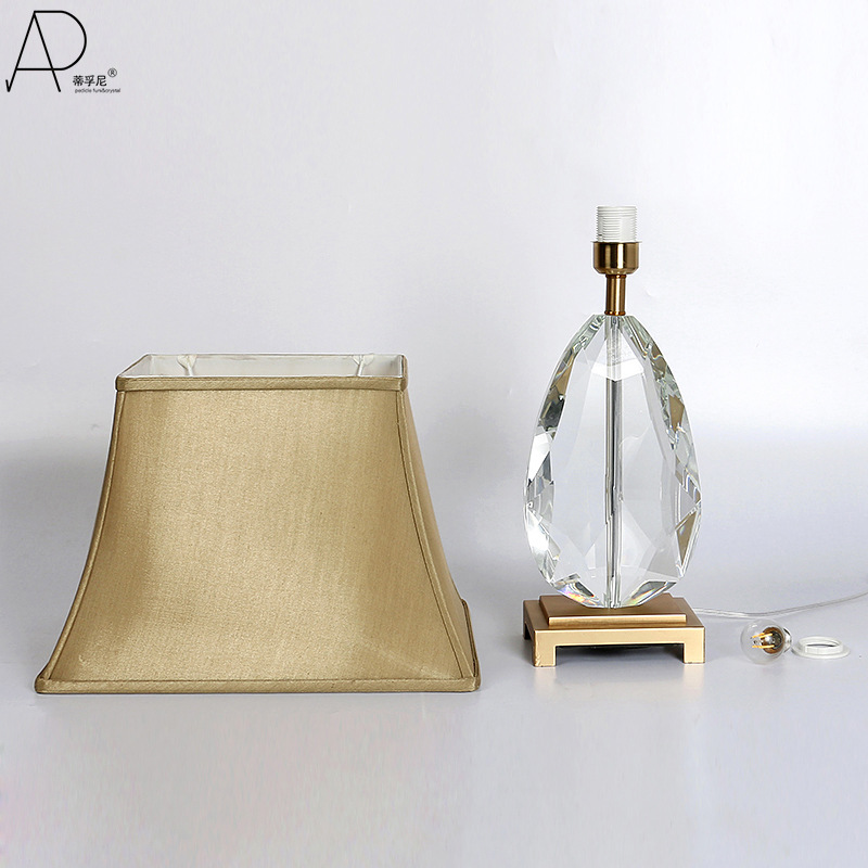 TUDA Free Shipping Maple Leaf Shaped K9 Crystal Table Lamp Art Deco Style Table Lamp Luxury Copper Decoration Table Lamp E27 - 2