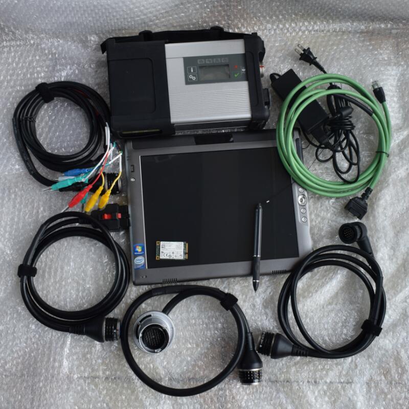 Новейший супер-звезды MB C5 диагностический инструмент SD соединиться с v2018.05 240 ГБ Мини ssd установлен хорошо в le1700 планшет процессор L7400 операти...