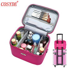 Makeup Organizer Waterproof Bag Travel Cosmetic For Women Large Capacity Storage Case Suitcases