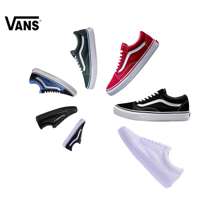 все цены на Original Vans Old Skool Light-Weight Low-Top Men's & Women's Skateboarding Shoes Sports Canvas Shoes Canvas Sneakers
