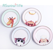 Cartoon Ceramic Dish Creative Western Household Fruit Plate Children Tableware For Home Kitchen Supplies