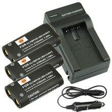 DSTE 3 ШТ. CR-V3 Аккумулятор + Путешествия и Автомобильное Зарядное Устройство для Olympus C-700 C-720 C-740 C-740UZ C-750 C-750UZ С-730 камера