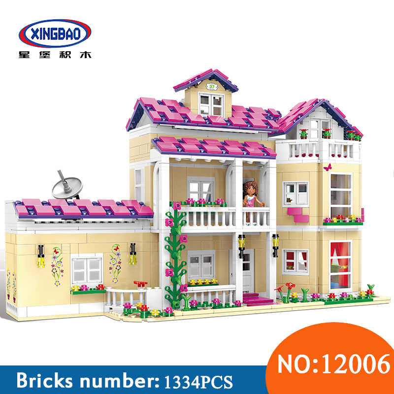 XINGBAO 12006 Kid Toys 1334Pcs Girl Series The Happy Dormitory Set Building Blocks Bricks Educational Funny Toys For Children funny kid for president