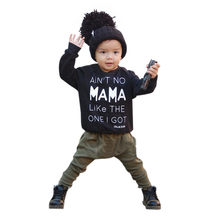 Baby boys clothes 2pcs Set casual 2019 newborn Clothes Long Sleeve Letter Print T-shirt +Pants Outfits Set conjuntos bebe verano(China)