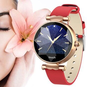 B80 ساعة ذكية H3 النساء Smartwatch الماس الزجاج سيدة Reloj ضغط الدم PPG مراقب معدل ضربات القلب جهاز تعقب للياقة البدنية