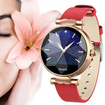 Reloj inteligente B80 H3 para mujer, Reloj inteligente de diamante, Reloj de señora, PPG de Frecuencia Cardíaca de presión arterial monitor, seguidor Fitness