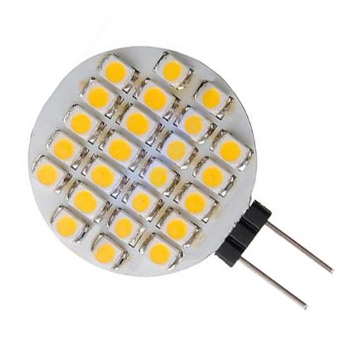 10x G4 SMD 24 LED Cabinet Marine Camper Car Bulb Lamp 12V Warm White Light 3156 12w 600lm osram 4 smd 7060 led white light car bulb dc 12v