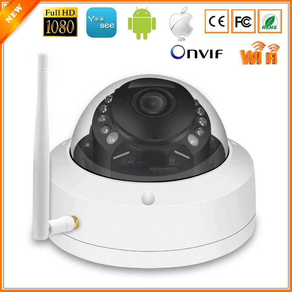 BESDER Vandal-proof Dome Wireless IP Camera 1080P Yoosee IR Night Vision Video Camera WiFi ONVIF Motion Detect SD Card Recording