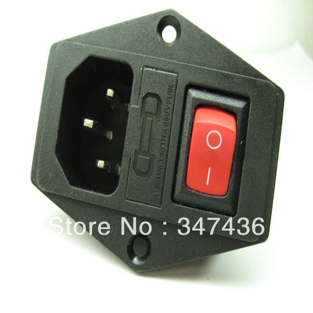 triple ac power outlet socket a rocker switch fuse box tripod triple ac power outlet socket a rocker switch fuse box tripod mounting hole feet of