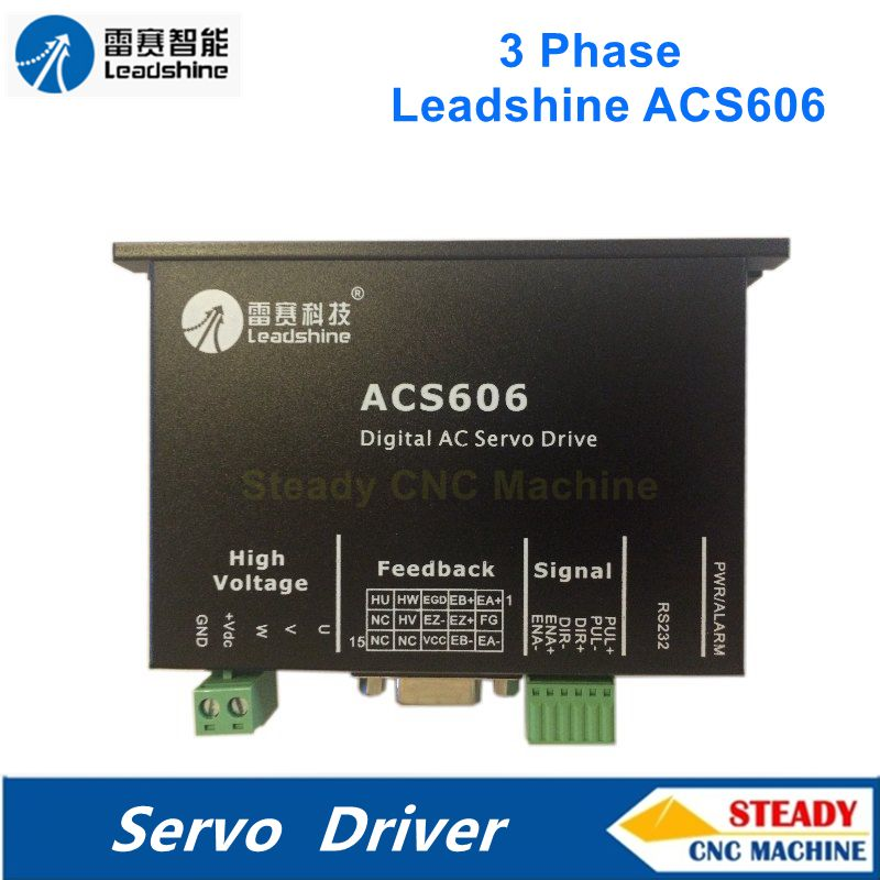 Leadshine servo driver ACS606 3 phase 24-60VDC AC simple and brushless driver can push 50W-200W BLM servo motor new 500w leadshine power supply sps608 power stepping and servo drives can out 60vdc and 8 5a current