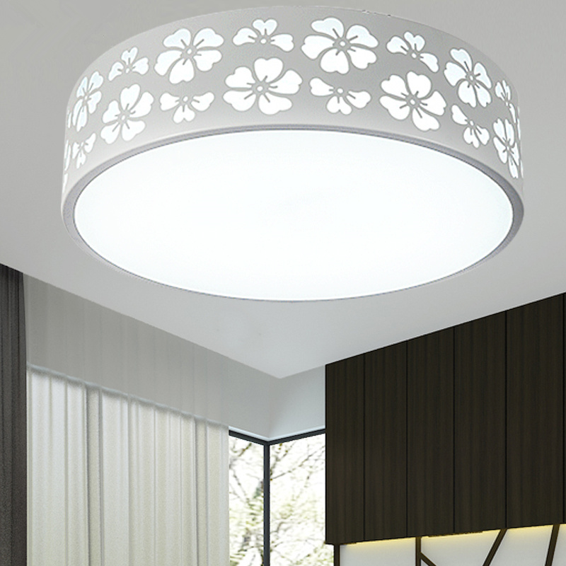 Simple Round LED Ceiling Light bedroom lamp children room LED small dome light circular remote control bedroom light ZA