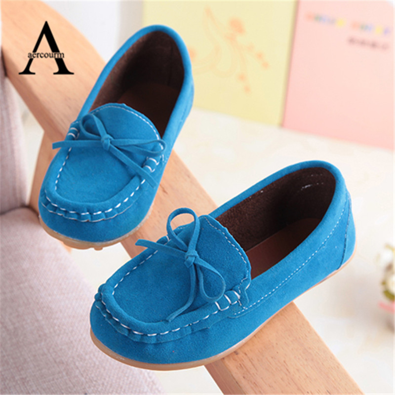 aercourm A Children Shoes Casual Sneakers Girls PU Leather Shoes Boys Sports Shoes Kids Sneakers Baby Boat Shoes