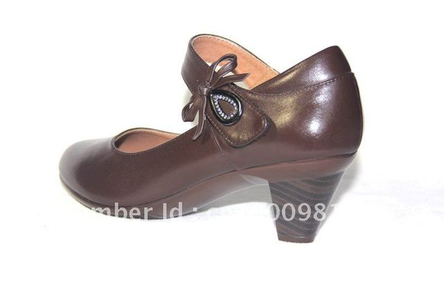 women official  comfortable  brown spring autumn shoes