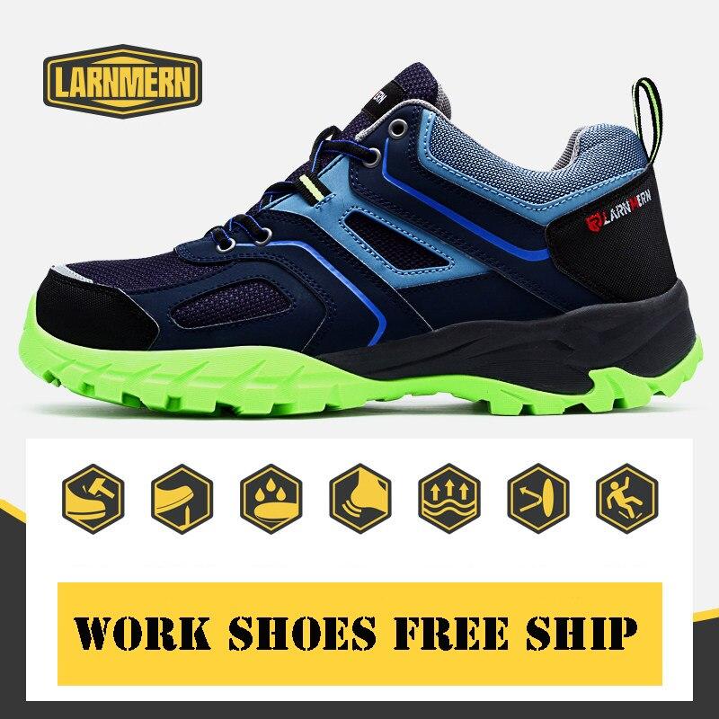 Larnmern Mode Herren Stahl Kappe Sicherheit Arbeit Schuhe Atmungs/anti-smashing/anti-punktion/nicht Schuhe Arbeits & Sicherheitsschuhe slip Schutzhülle Schuhe Reflektierende Kunden Zuerst
