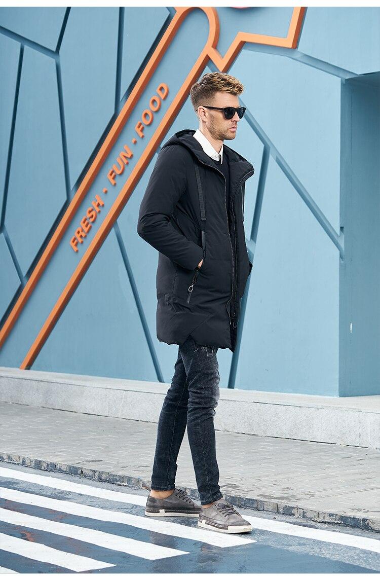 Enjeolon Brand Winter Jacket Men Long Parka Jacket Thick Hat Parka Coat Men Quilted Winter Jacket Coat Clothes MF0060 12