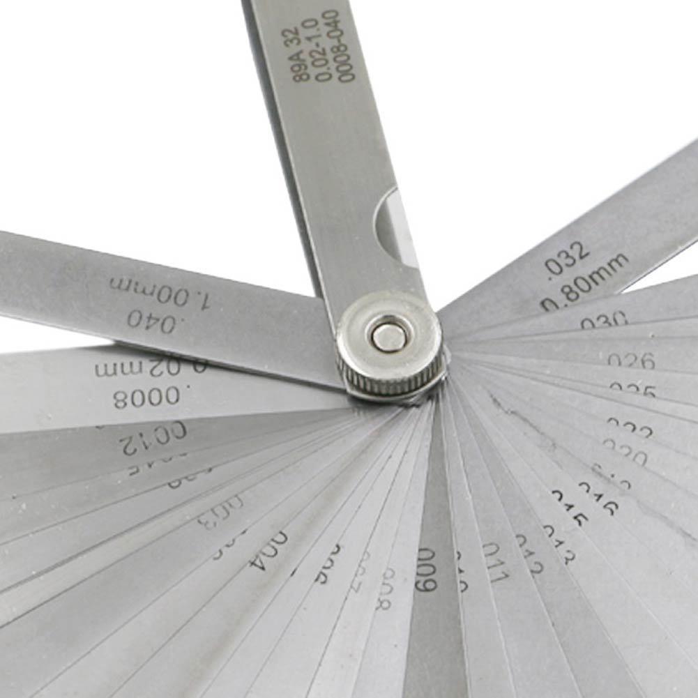 32 pçs/set 0.02-1.0MM Blade Master Feeler Gauge Kit De Ferramentas De Medição de Aço Inoxidável de Alta Qualidade MAL999