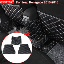 QCBXYYXH Car Styling Auto Interior Seat Protector Side Edge Protection Pad Car Sticker Anti-kick Mat For Jeep Renegade 2016-2018