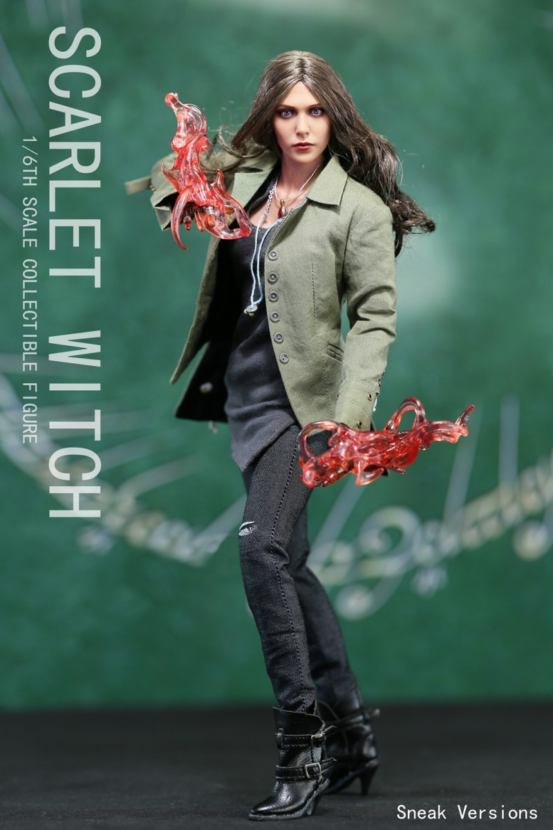 1/6 Scale The Avengers Age of Ultron Scarlet Witch Action Figure with Green Clothes Models Sneak Ver. Collections Toys 1 6 scale full set soldier the lord of the rings elven prince legolas action figure toys model for collections