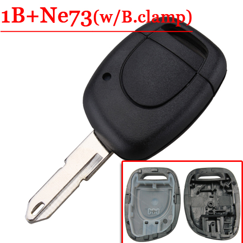 Free shipping 1 Button Remote Key Shell with NE73 key blade For Renault Kangoo W/O Battery Clamp for Renault 10pcs/lot free shipping 3 button flip key shell for cr2032 big battery type2 for audi 10 piece lot