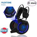 Nova plextone pc835 professional gaming headset estéreo baixo fone de ouvido com microfone led light para dota2 lol cs ir