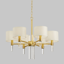 crystal chandelier Modern American copper art decoration room light luxury atmosphere fine bedroom living club