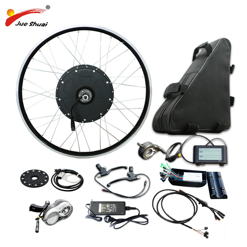 Powerful 26 700C Rear Motor Wheel 48V 1000W Electric Bike Conversion Kit 48V 20AH Lithium Battery E Bike Electric Bike Kit