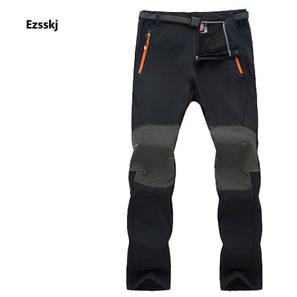 ФОТО Mens Winter Outdoor Fishing SnowBoard Ski Trousers Windproof Climbing Hiking Soft shell Fleece Warm Pants