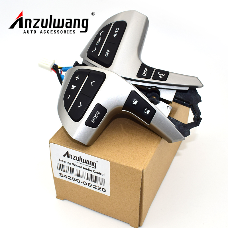 ANZULWANG Bluetooth Audio Steering Wheel Switch For Toyota Highlander 84250-0E220 Steering Wheel Audio Control Switch/Button