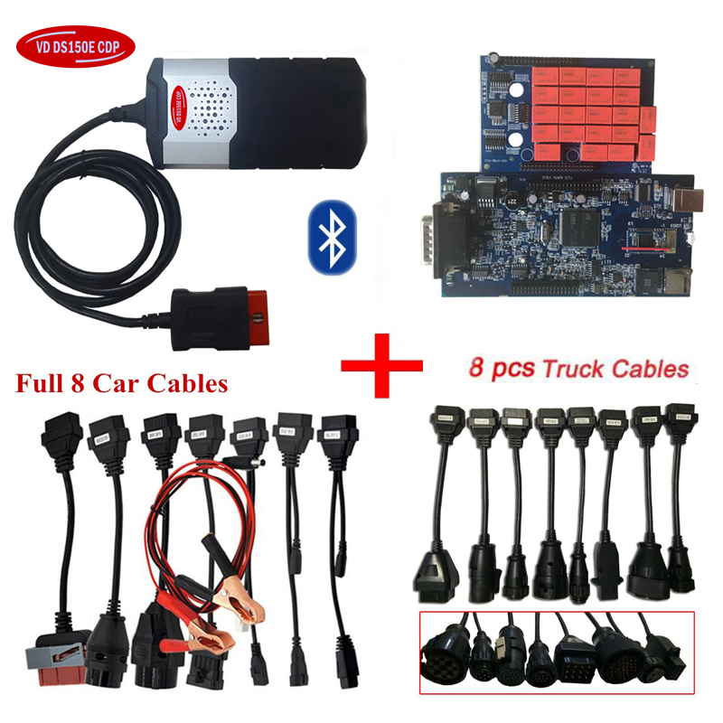 2018 new for delphis vd ds150e cdp 2016.R0 latest version with bluetooth obd scanner car diagnostic tool+full 8 car/truck cables2018 new for delphis vd ds150e cdp 2016.R0 latest version with bluetooth obd scanner car diagnostic tool+full 8 car/truck cables