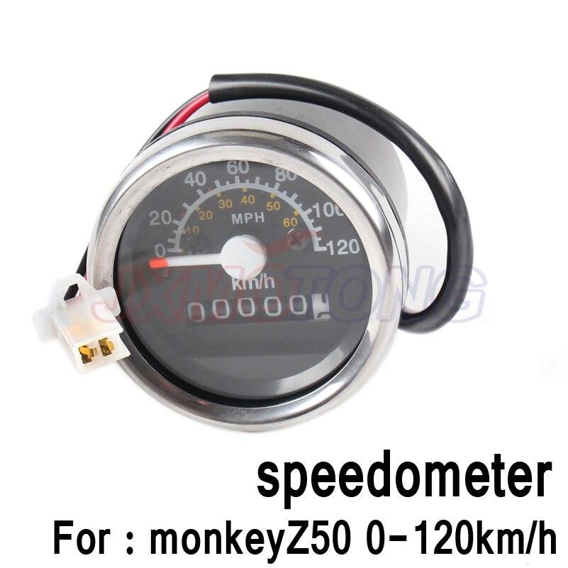 Free shipping NEW Z50 0-120km/h speedometer meter speedo speed FOR HONDA motorcycle monkey bike Z50 parts free shipping brand new 5 color monkey bike z50 plastic kit monkey bike parts